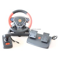 RACING STEERING WHEEL FOR USB/PS2