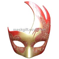 Red & Gold Carnival Eye Mask