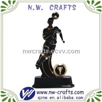 Resin soccer player figure