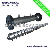 Rubber machine screw barrel