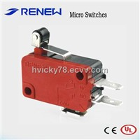 Short Roller Lever Type Micro Switch (CE/UL Certificates)