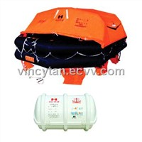 Throw-over inflatable liferaft HYF-Y type