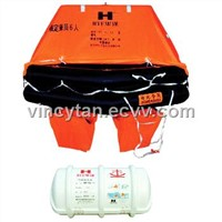 Throw-over simple-type inflatable liferaft HYF-YJ type