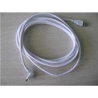 USB Am to Right/Left Angle USB Mini 5pin Cable;white