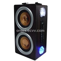 USB MP3 Speaker Box with Emergency Lamp