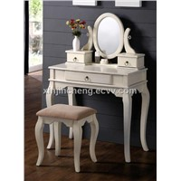 White Finish Bedroom Vanity Set