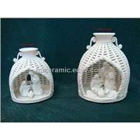 Woven Porcelain Nativity Set