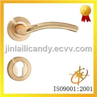 Zinc alloy  Door Lever handle on Rose (0155GP)