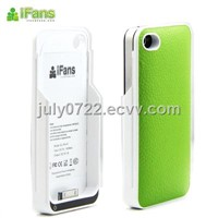 for iphone4 accessories-luxury leather battery cover case