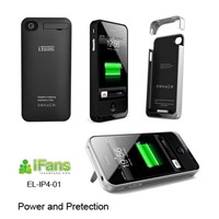 for iphone4 rechargeable battery cover case