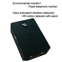 gsm monitor,voice monitor,telephone monitor,motion detector+voice activated+vibration detector