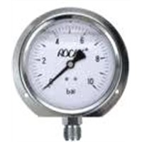 liquid filled pressure gauge with flange