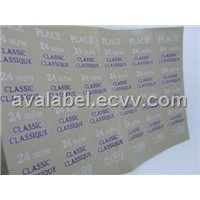 Paper Contents Sticker Label