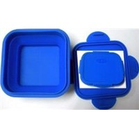 Silicone Square Lunch Box - Heat Preservation