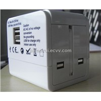 Universal Travel Adaptor with 2usb