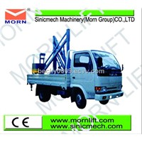 vehicular articulated boom lift