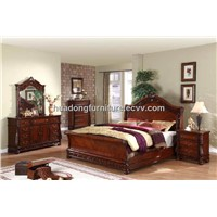 Antique Wooden Bedroom Sets HDB009