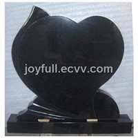 Heart Style Black Granite Monuments