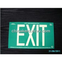 Photoluminescent Aluminium Safety Signages - EXIT