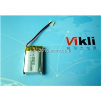 Pl051235 130mAh Rechargeable Battery, MP3 Lithium Battery