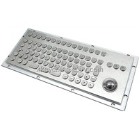 Vandalproof Metal Keyboard with Function Keys and Trackball (X-BP86B)