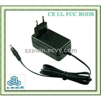 12W Wall Type Switching Power Supply with EU Plug