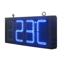 12 Inch 88: 88F LED Time & Temperature Signs