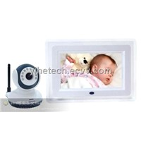2.4Ghz Wireless Digital Baby Monitor with 7 Inch LCD Screen IR Night Vision Two way Audio Function