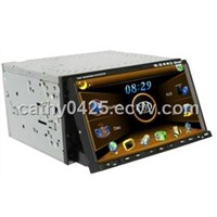 2 din/ double din car dvd player with GPS, Bluetooth, DVB-T/ ISDB-T/ ATSC, 7 inch touch screen