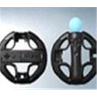 2 in 1 Steering Wheel for PS3 Move & Wii