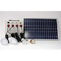 30W Solar Home Lighting & Charging System