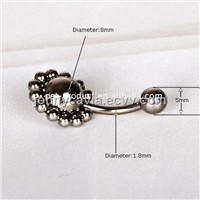 316L stainless steel new fashion navel rings