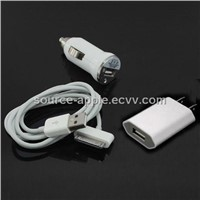 3-In-1 Charger Kit for iPhone 4