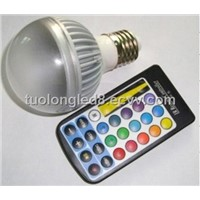 5W E27 RGB LED Bulb Lamp