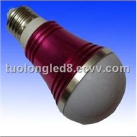 5W E27 Red Color High Power LED Bulb Lamp