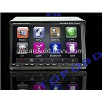 7 inch Double Two Din Car DVD Player With GPS/ Bluetooth/ IPod/ TV