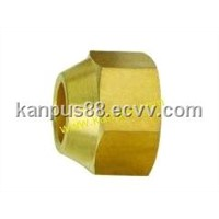 Brass Flare Nut for refrigeration and air conditioning (brass nut, brass fitting, copper fitting)