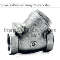 Brone Y-Pattern Swing Check Valve