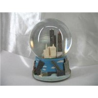 City water snow globe