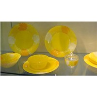 Clear Glass Dinner Set