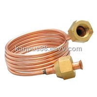 Copper Capillary Tube with Nuts - Copper Fitting, Refrigerator Spare Parts, HVAC/R Parts