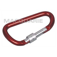 D-Shape Carabiner with Lock Catch