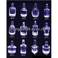 Different wine glass bottles