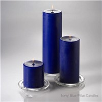 Hand Poured Navy Blue Scents Pillar Candles