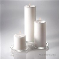 Hand Poured White Pillar Candles