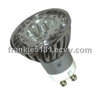 High power Led Gu10 E27 wind-shape spotlight 3W RGB