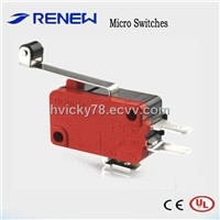 Hinge Roller Lever Type Micro Switch (UL/CE Certificates)