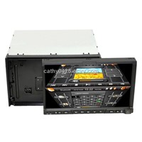 2 Din Car DVD with 7'' Touch Screen,BT, GPS,PIP, IPod, TV, 3D UI