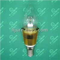 Hot sales new designed 3w e14 led dimmable candle 360 degree