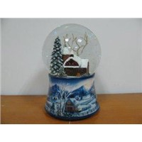House Water Snow Globe